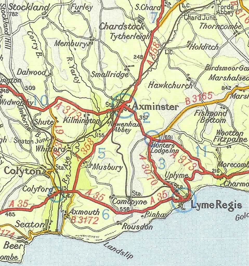 Hinterland map